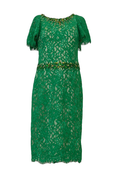 Rent: Windy Chandra - Emerald Green Lace Beaded Dress