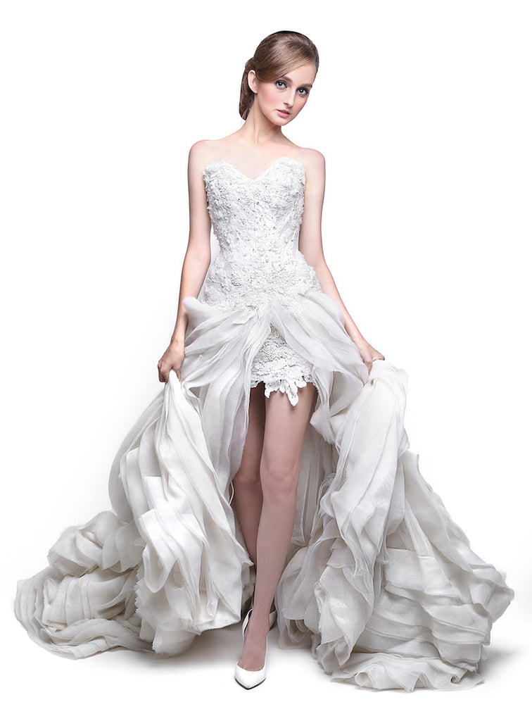Windy Chandra Couture - Buy: Open Front Wedding Gown-The Dresscodes - 1