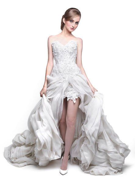 Windy Chandra Couture - Rent: Open Front Wedding Gown-The Dresscodes - 1