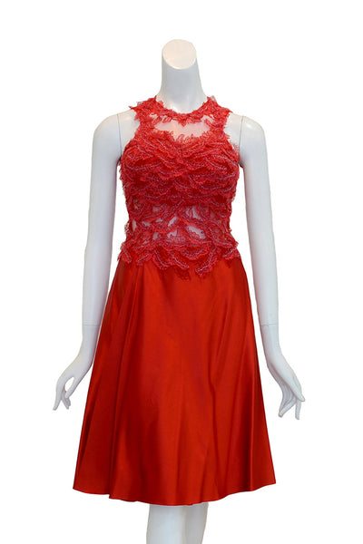Rent: Windy Chandra - Red Sleeveless Cocktail Dress