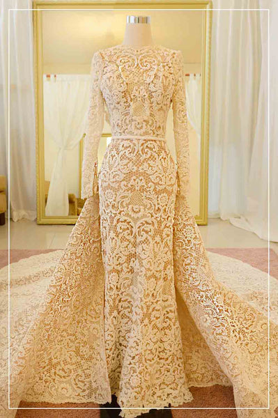 Rent: YEFTA GUNAWAN Convertible Long Sleeves Wedding Gown