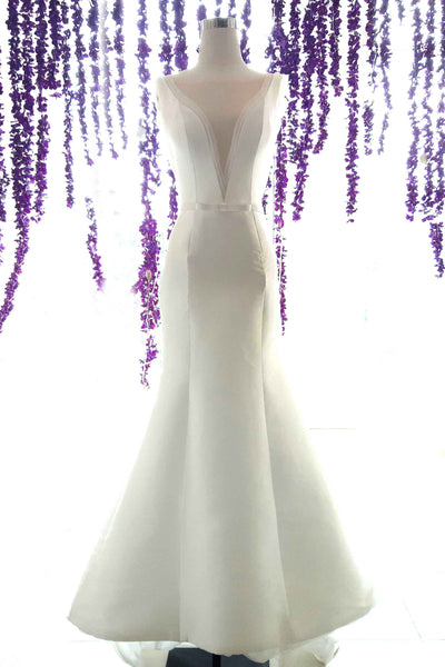 Rent: Yefta Gunawan - Deep V - Neck Sateen Wedding Dress