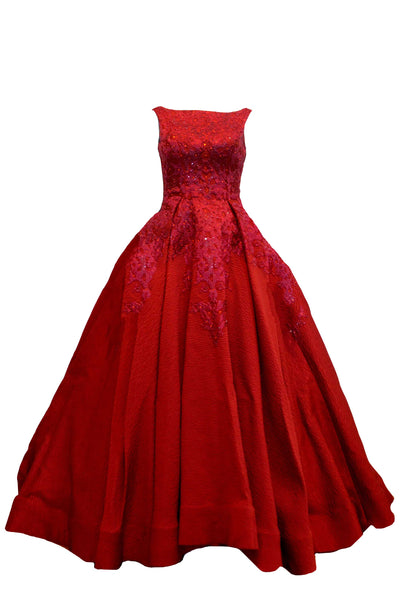 Rent: Yefta Gunawan Red Sleeveless Ball Gown