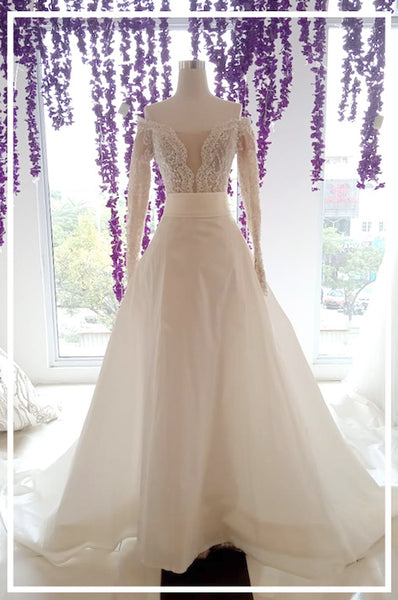 Rent: Yefta Gunawan - Convertible Long Sleeves Wedding Gown
