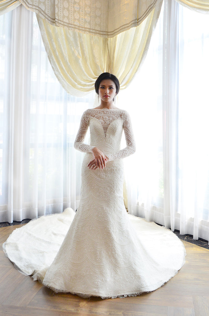 Rent: Yefta Gunawan Long Sleeves Mermaid Wedding Gown