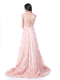 Yefta Gunawan - Buy: Peach Beaded Floral Gown-The Dresscodes - 2