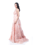 Yefta Gunawan - Buy: Peach Beaded Floral Gown-The Dresscodes - 3
