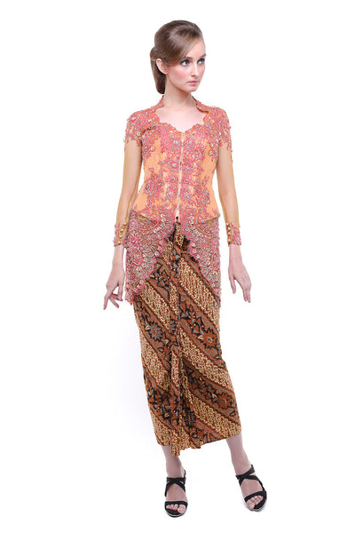Yefta Gunawan - Rent: Beaded Pink Orange Kebaya-The Dresscodes - 1