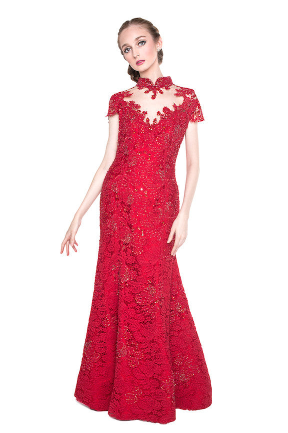 Yefta Gunawan - Buy: Red CheongSam Gown-The Dresscodes - 1