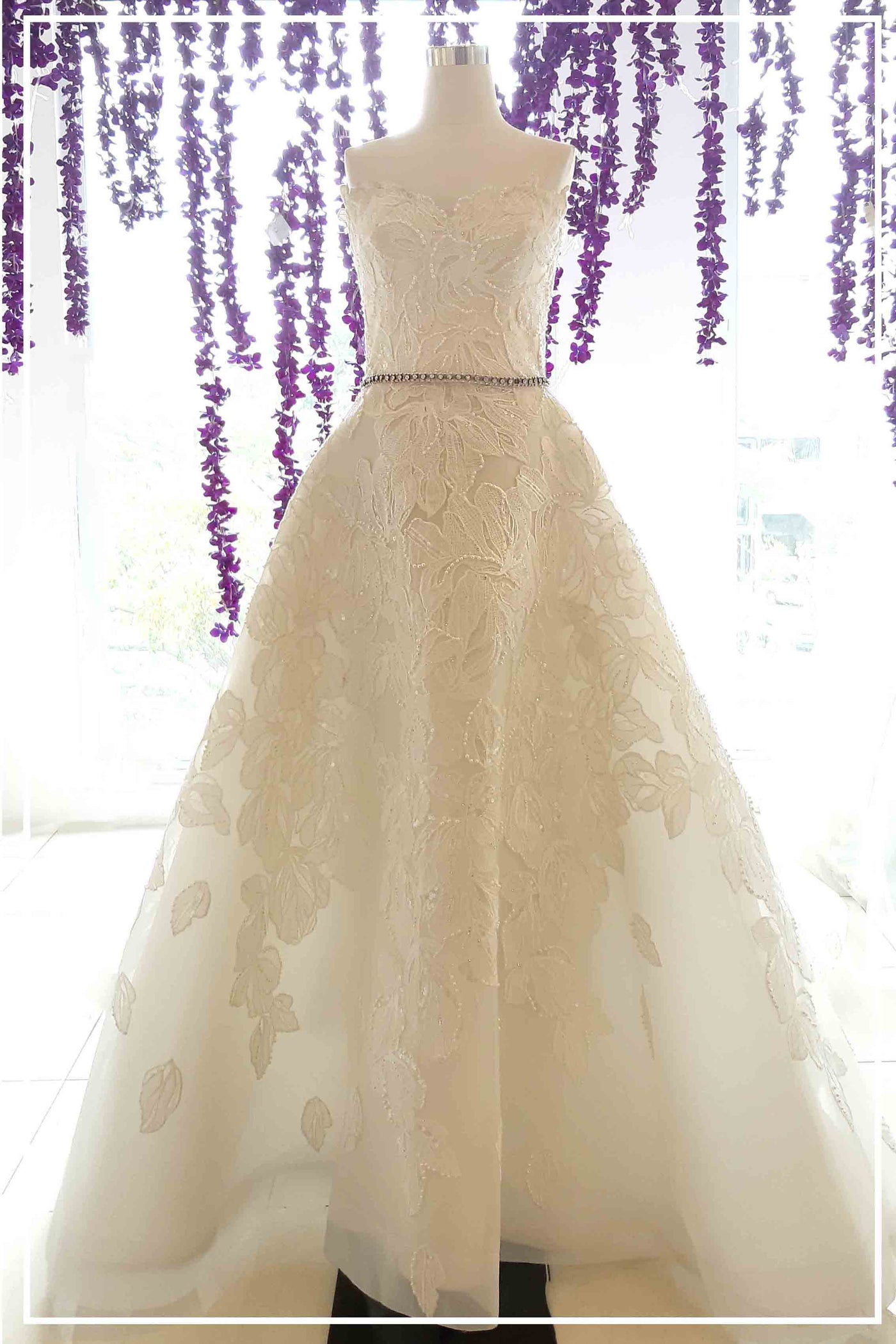 Rent: Yefta Gunawan - Flower Beaded Convertible Wedding Gown