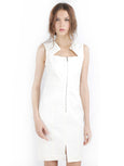 Yigal Azrou?_l - Rent: Yigal Azrouel Cotton Tech White Dress-The Dresscodes - 1