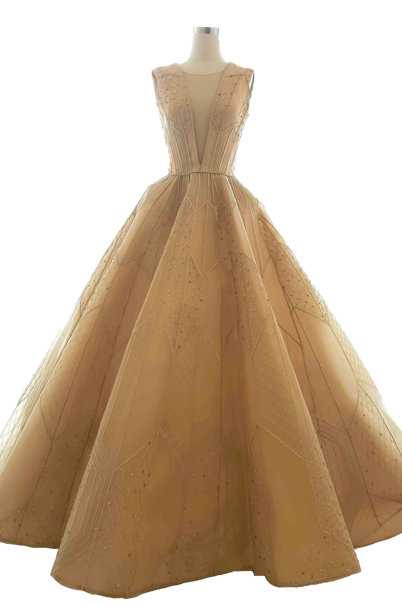 Rent: Yogie Pratama - Deep V-Neck Ball Gown