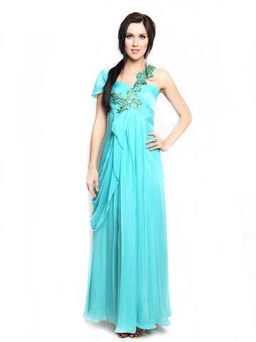 Buy: Beaded Blue Green Gown