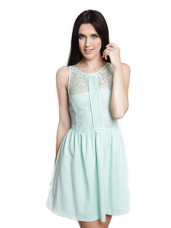 Zara - Buy: Mint Green Lace Dress-The Dresscodes - 1
