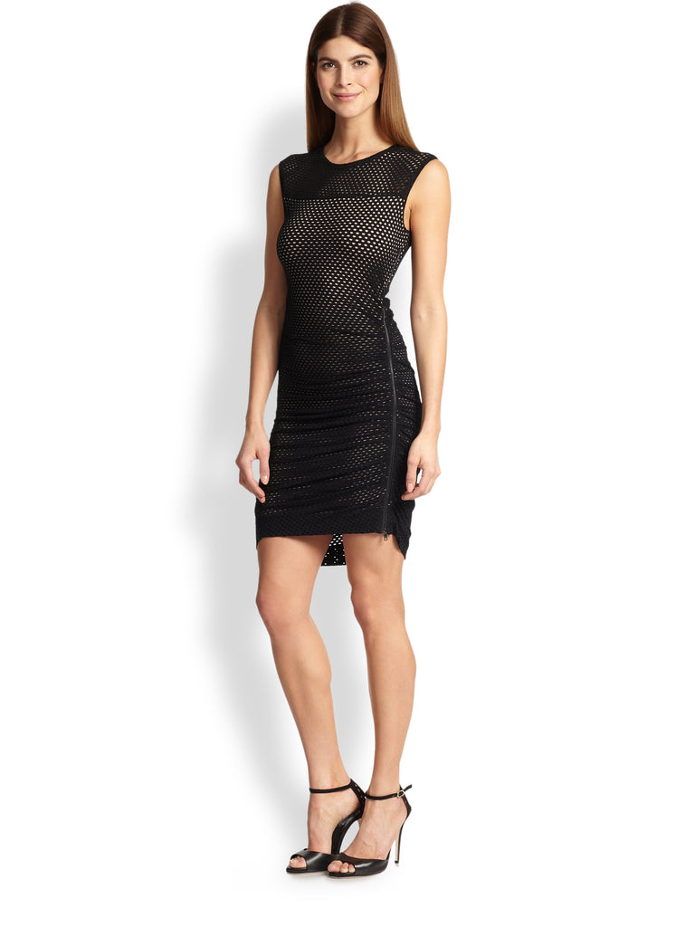 Buy: BCBG Dell Black Mesh Dress