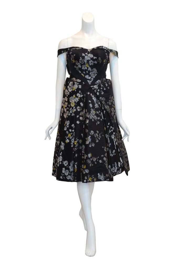 Rent: Deden Siswanto - Floral Black Off Shoulder Dress
