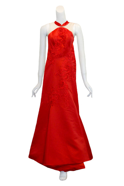 Rent: Seraglio Couture Red Jeanny Cheongsam Long Dress