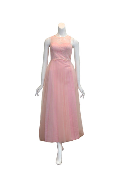 Rent: Gisela Privee Pink Lace & Tulle Dress