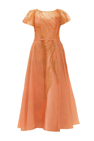 Rent:  Gisela Privee - Circular Cap Sleeve with Outer Skirt
