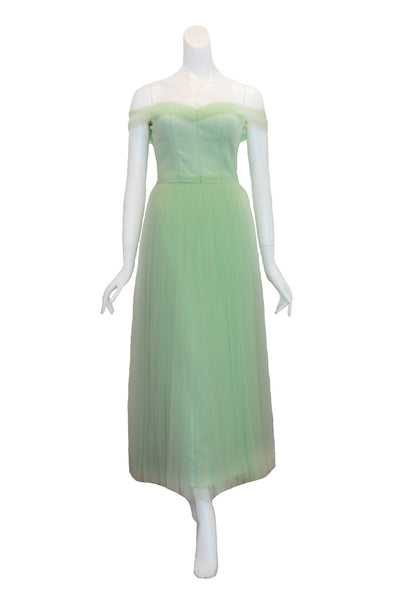Rent: Seraglio Couture Green Bridesmaids Sabrina Tulle Dress
