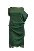 Rent: iRoo Green Silk Lace Dress