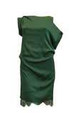 Buy: iRoo Green Silk Lace Cocktail Dress
