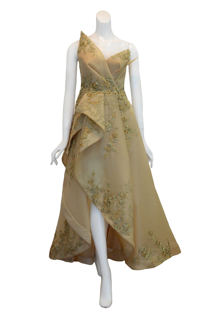 Rent: Stella Ong Gold Beaded Gown