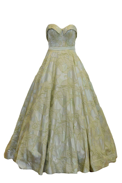 Rent: Monica Ivena - Green Sweetheart Embellishment Ball Gown