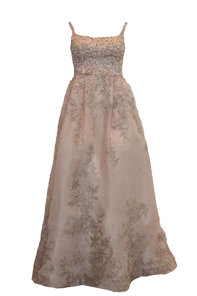 Rent: Priska Henata Nude Sleevelees Full Beaded Gown