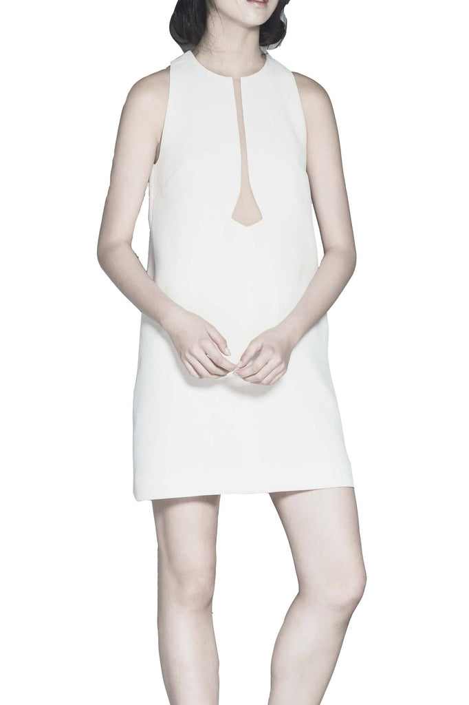 Rent: Peggy Hartanto White Sleeveless Mini Dress