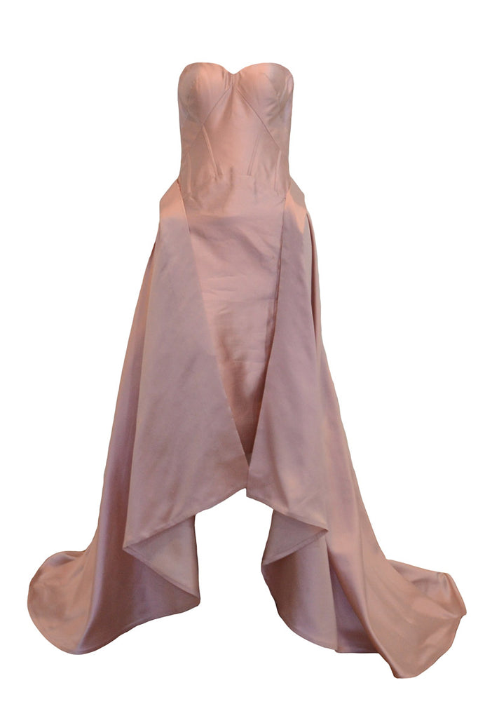 Rent: Anrini Polim Pink Sweetheart with Tail Midi Dress