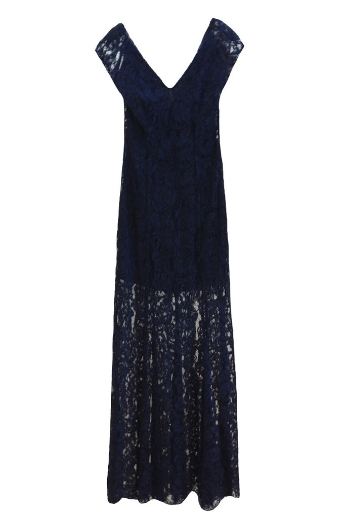 Sale: REISS V-Neck Lace Long Dress