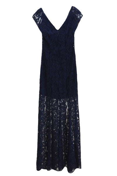Rent : REISS V-Neck Lace Long Dress