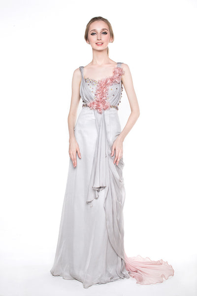 Susan Budihardjo - Buy: Dusty Pink Grey Chiffon-The Dresscodes - 1