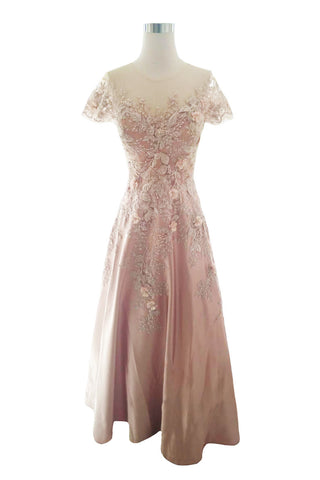 Rent : Wearbi Riana Soft Pink A-line Flower Dress