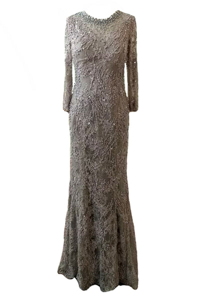 Rent: Winda Halomoan - Silver Half Sleeveless Full Beadings A-Line Gown
