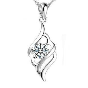 3 Tier - Silver (Platinum Plated) Pendant Necklace
