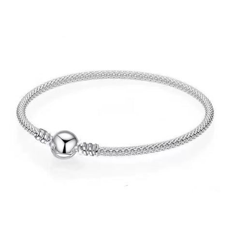 Amoret (Greek Goddess of Love and Fertility) - Silver Snake Chain Bracelet