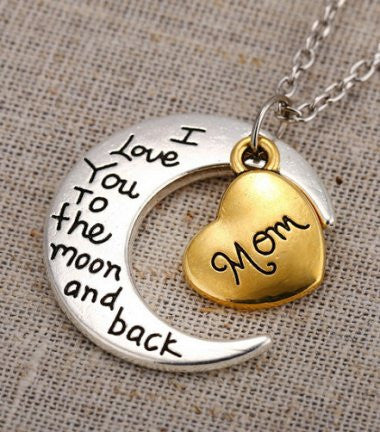 Mom - Moon/Back Necklace