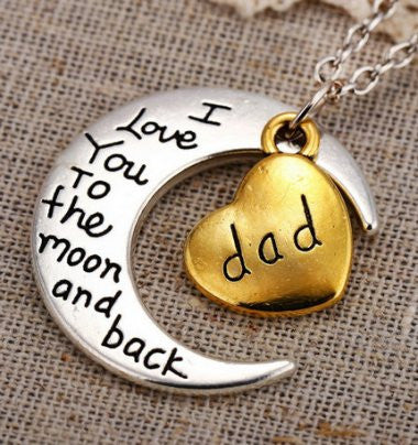 Dad - Moon/Back Necklace