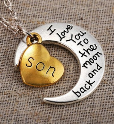 Son - Moon/Back Necklace