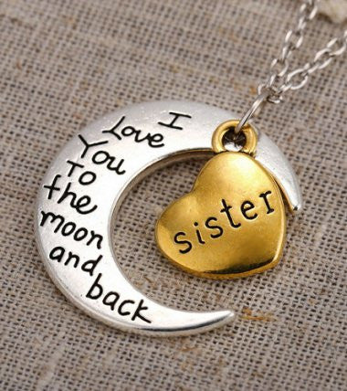 Sister - Moon/Back Necklace
