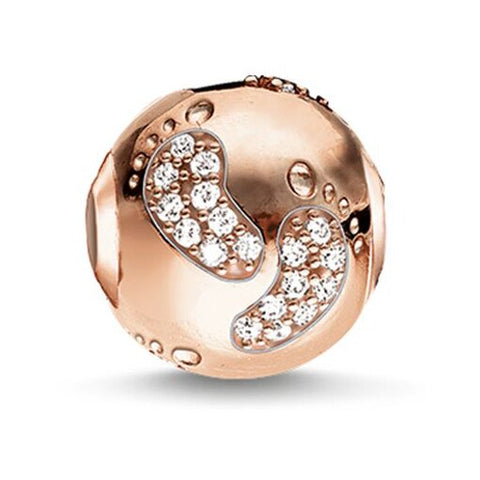 Baby Footprint Bead (Rose Gold)
