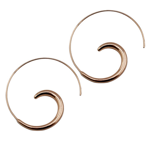 Rose Gold Hoop Earring