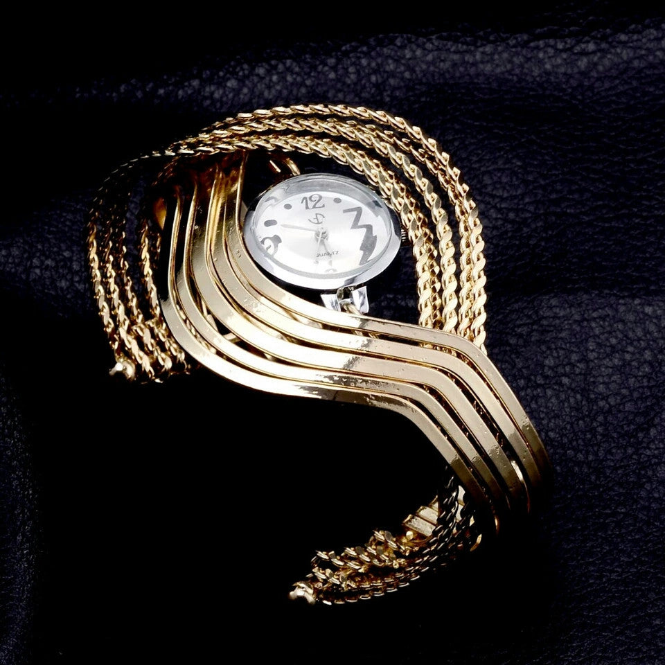 Elegant Bangle Watch (Gold or Silver)
