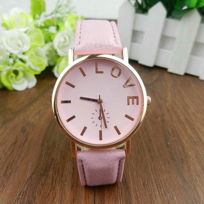 Love Leather Watch (Various Colours)