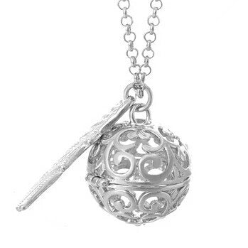 Angelic Harmony Chime Pendant Necklace - Silver
