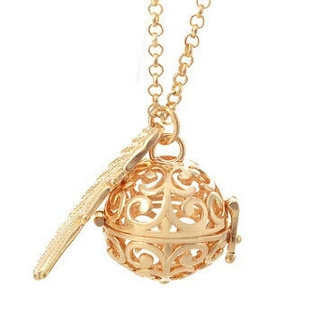 Angelic Harmony Chime Pendant Necklace - Rose Gold