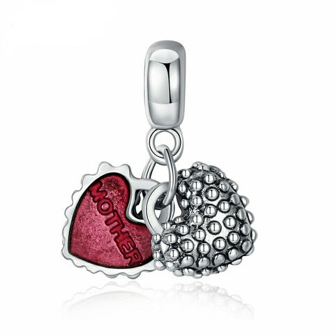 Mother/Daughter Red Heart Charm