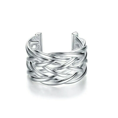 Stacia Adjustable Silver Ring